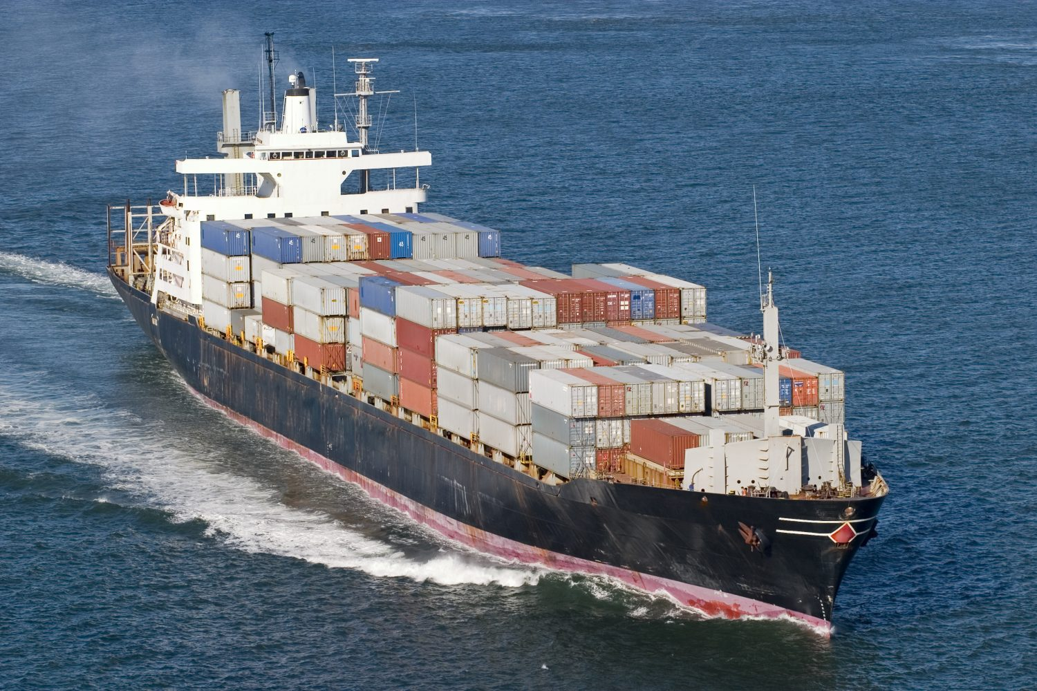 Container Ship Close up